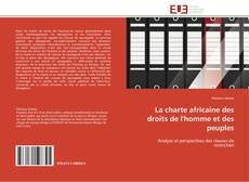 Couverture de La charte africaine des droits de l'homme et des peuples