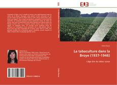 Capa do livro de La tabaculture dans la Broye (1937-1946)