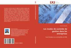 Buchcover von Les modes de contrôle de gestion dans les entreprises