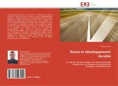 Обложка Route et développement durable