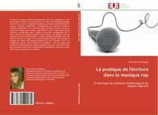 Buchcover von La pratique de l'écriture dans la musique rap