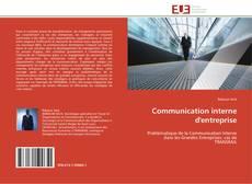 Couverture de Communication interne d'entreprise