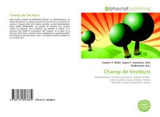 Portada del libro de Champ de Vecteurs