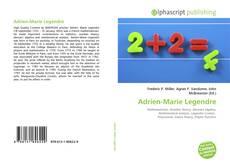 Bookcover of Adrien-Marie Legendre