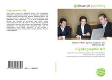 Bookcover of Cryptographic API