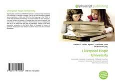 Portada del libro de Liverpool Hope University