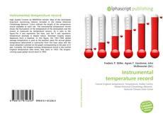 Bookcover of Instrumental temperature record