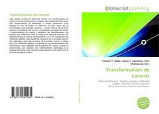 Capa do livro de Transformation de Lorentz