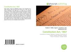 Bookcover of Constitution Act, 1867