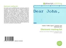 Bookcover of Electronic mailing list