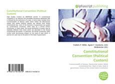 Couverture de Constitutional Convention (Political Custom)