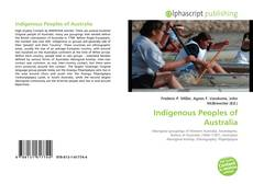 Bookcover of Indigenous Peoples of Australia