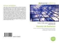 Copertina di Pression de Radiation