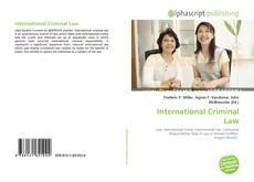 Bookcover of International Criminal Law