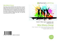 Bookcover of Miss Misery (Song)
