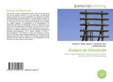 Capa do livro de Histoire de l'Electricité