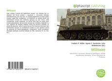 Bookcover of Militaire