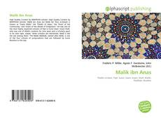 Bookcover of Malik ibn Anas