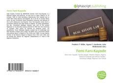 Bookcover of Femi Fani-Kayode