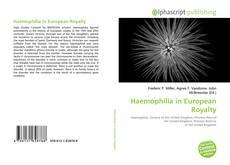 Bookcover of Haemophilia in European Royalty