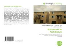 Bookcover of Mesoamerican Architecture