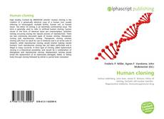 Bookcover of Human cloning