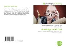 Buchcover von Good-Bye to All That