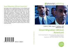 Bookcover of Great Migration (African American)