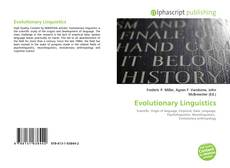 Bookcover of Evolutionary Linguistics