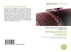 Bookcover of 2010 Baja California earthquake