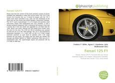 Portada del libro de Ferrari 125 F1