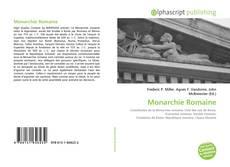 Monarchie Romaine kitap kapağı