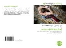 Обложка Volonté (Philosophie)