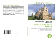 Buchcover von Henry III, Margrave of Meissen