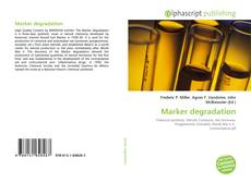 Bookcover of Marker degradation