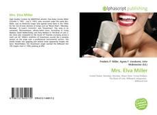 Portada del libro de Mrs. Elva Miller
