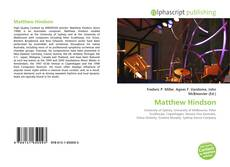 Bookcover of Matthew Hindson