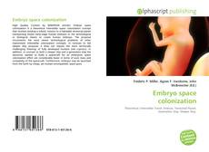 Bookcover of Embryo space colonization