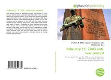 Bookcover of February 15, 2003 anti-war protest