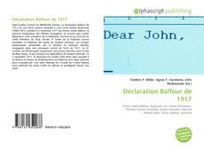 Bookcover of Déclaration Balfour de 1917