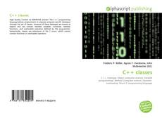 Bookcover of C++ classes