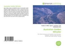 Australian Golden Whistler kitap kapağı