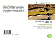 Bookcover of Honor Academy