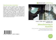Manufacturing in Australia kitap kapağı
