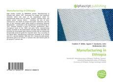 Manufacturing in Ethiopia kitap kapağı