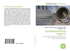 Capa do livro de Continental Airlines Flight 11