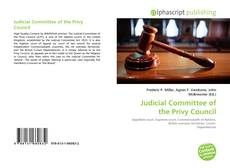 Bookcover of Judicial Committee of the Privy Council