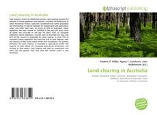 Capa do livro de Land clearing in Australia