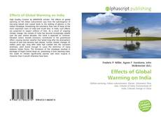 Effects of Global Warming on India kitap kapağı