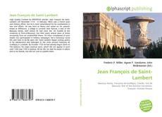 Couverture de Jean François de Saint-Lambert